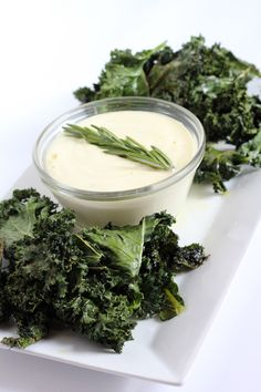 Paleo Garlic Aioli with Kale Chips