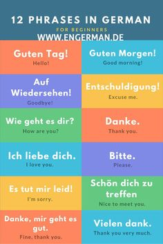 best basic German phrases for travel To celebrate our year in Europe, we wil. -The best basic German phrases for travel To celebrate our year in Europe, we wil. - German Language Learning Stickers More German Vocabulary Laminated Study Guide. Basic German Phrases, German Words, Italian Phrases, Study German, German English, German Language Learning, Language Study, Dual Language, Deutsch Language