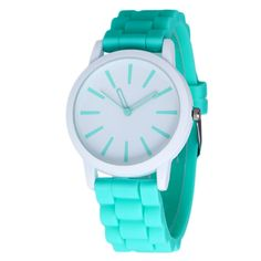 New Fashion Designer Geneva Ladies sports brand silicone watch jelly watch 17 colors quartz watch for women relojes mujer 299