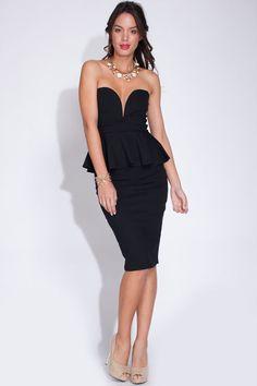 sweetheart dress midi-LIL BLACK DRESS-CLUBWEAR #symphony #MIDI #LittleBlackDress