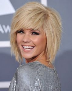 Best and unique medium shag haircut. Sassy and modish medium shag haircut that your surely love it. Bob Hairstyles With Bangs, My Hairstyle, 2015 Hairstyles, Blonde Hairstyles, Celebrity Hairstyles, Razor Cut Hairstyles, 1940s Hairstyles, Hairstyle Ideas, Wedding Hairstyles