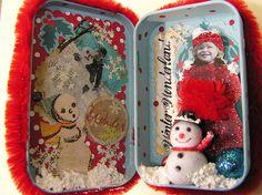MaryBelle's Winter Wonderland - altered Altoids tin