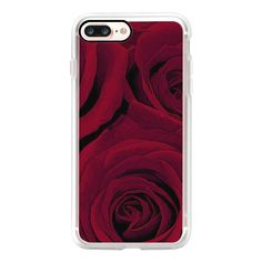 Maroon Roses - iPhone 7 Case, iPhone 7 Plus Case, iPhone 7 Cover,... (1.405 UYU) ❤ liked on Polyvore featuring accessories, tech accessories, iphone case, iphone cover case, iphone cases and apple iphone case