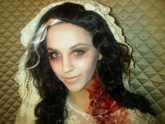 Megan  Parken : Zombie Bride Halloween Makeup! #Lockerz