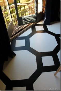 Hand painted floor - San Francisco Decorator Showcase 2011 - black and white