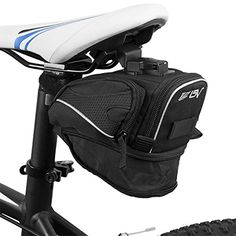 Bike Seat Packs - BV Bicycle ClipOn Expandable Saddle Seat Bag Black ** Find out more about the great product at the image link.