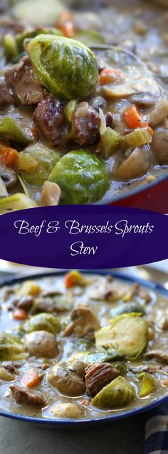Beef and Brussels Sprouts Stew is a hearty and healthy winter meal. High in fiber, low on the glycemic index and gluten-free. My family had no clue it was so healthy and gobbled it up. #FallFest  http://www.thefedupfoodie.com