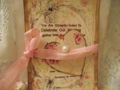 Set Of 20 Wedding invitation  Save The Date  Distress by mslizz, $50.00