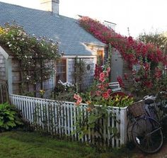 "Nantucket Cottage - featured in the book ""Sea Captains' Houses and Rose Covered Cottages."""