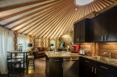 Over the years, our customers have found a wide range of use for our yurts, and many have shared their creative interior designs with us. Here are some of our favorites!