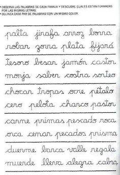 Letramanía 4 – El Rincón De Aprender Elementary Spanish, Cursive Handwriting, Pin On, Spanish Lessons, English Class, Kids Learning, Literacy, Sheet Music, Language