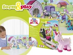 "Pony is a girl's best friend! If you are looking for a creative way to challenge your kiddies' fine motor skills just try our new #FIMO kids form & play ""Pony"" set."