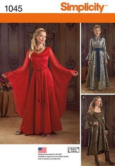 Pattern for Misses' Fantasy Costumes   Simplicity