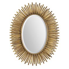 Renwil Sparta Antique Gold Leaf Mirror ($20) ❤ liked on Polyvore featuring home, home decor, mirrors, renwil mirrors and antique gold leaf mirror