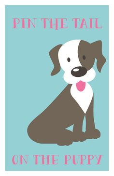 Entertain your little guests with this Puppy Pawty Pin the tail on the puppy game. Perfect for any Puppy Pawty. Download the digital file and