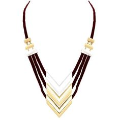 Rose Pierre La Goyard Necklace ($29) ❤ liked on Polyvore featuring jewelry, necklaces, pendant, triple necklace, chain pendant necklace, multi layer chain necklace, gold and silver chain necklace and chevron necklace