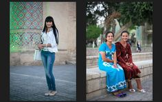 Street Style in Bukhara, Uzbekistan. Photography by Theodore Kaye