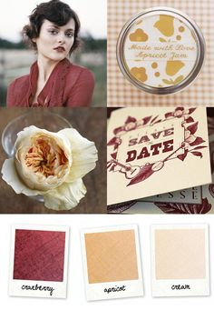 Cranberry and apricot color inspiration. So fall.
