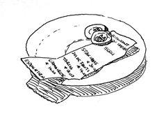 """L'Addition"", Restaurant in L'Ardeche. Pen drawing 1997"