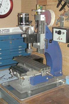 Small Milling Machine, Cnc Machine, Metal Bending Tools, Metal Tools, Metal Mill, Metal Shop, Metal Lathe Projects, Diy Lathe, Diy Amplifier