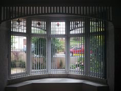 Vertical window blinds, curved vertical blinds, installed into a curved bay window here in Plymouth, by Blindology Blinds of Plymouth Bay Window Blinds, Vertical Window Blinds, Blinds For Windows, Room Window, Bay Window Treatments, Window Coverings, Bay Window Design, Shaped Windows, Best Windows