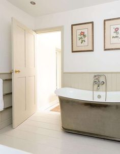 TUB: Modern Country Style: House Tour: Small Country Cottage Click through for details.
