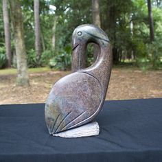 """Hand Carved Abstract Bird"" Shona Sculpture. By the artist: Tafireyi Tendy. Shona artists are well known for their stone sculptures and are typically called ""Shona"" sculptures. 30% of net profits go back to three Zimbabwean charities."