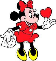 cartoons characters | Disney Minnie Mouse With Heart Pictures | Disney Cartoons Wallpapers ...
