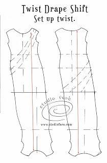 Get a twist in your hemline! #PatternPuzzle - #TwistDrape Shift  #wellsuitedblog #patternmakingclasses