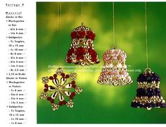 Christmas ornaments from beads https://www.facebook.com/alena.kim.5682/posts/600135063448277