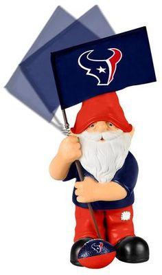 Houston Texans Garden Gnome - Springy Flag #HoustonTexans