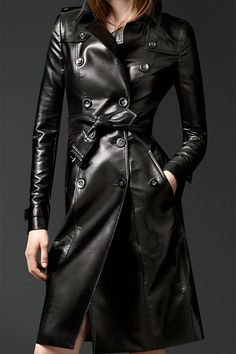 Leather trench.
