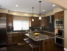 Custom Alderwood Kitchen Pacific Beach