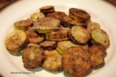 Fleur de Lolly: Cast Iron Skillet Fried Yellow Squash.  A perfect side dish or just for snacking!