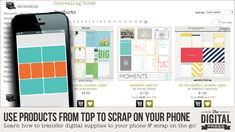 Tutorial Tuesday | Use Products from TDP to Scrap on Your Phone | The Digital Press