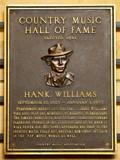 Hank WIlliams - Inducted in 1961