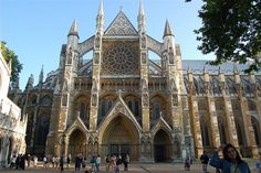 North entrance to Westminster Abbey.