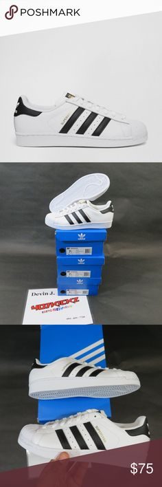 ADIDAS SHELLTOES NEW ADIDAS ORIGINALS SUPERSTAR C77124 WHITE BLACK SHELLTOE Casual Shoes | 3 pairs of MENS Size 7.5 | DS Brand New | Original Box adidas Shoes
