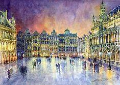 Gallery of artist Yuriy Shevchuk: Watercolour Cityscape Paintings