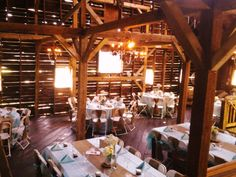 Barn Wedding Reception With Burlap Decor Wine And Roses Country Estate