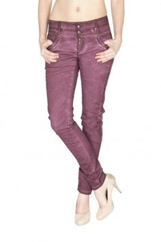 BLUE MONKEY Damen Skinny Jeans  Dale-2  Blackberry