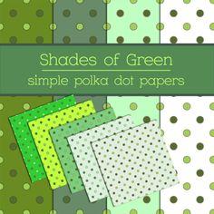 Simple Green Polka Dot Papers by TeacherYanie.deviantart.com on @deviantART