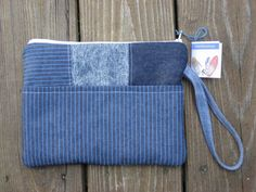e-reader bag, zippered, denim, padded pouch. Nook, Kindle, wristlet, Mobile Accessories