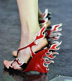 Hot Rod Flaming Shoes are all the talk after Prada started its Spring/Summer 2012 footwear collection campaign. The Hot Rod Flaming Shoes were inspired by American racing cars so popular in the 1950s. prettysojaccsry