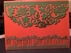 Scrapbooking Made Simple Simply Defined Harvest Your Blessing die(s) were used in the creation of this card  Pumpkin row is a Silhouette cut