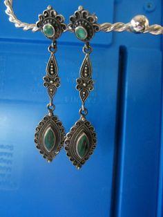 SOLD  Vintage Drop Earrings  925 Sterling by JewelsOfHighElegance, $12.50