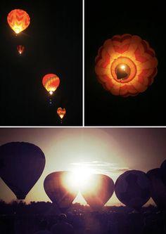 Dawn patrol at the hot air balloon races.