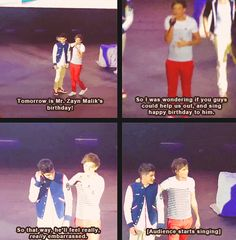 The best part is, Louis is wearing his stripes and red pants and Zayn is wearing his varsity jacket.