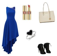 """Untitled #31"" by joy53 ❤ liked on Polyvore featuring Halston Heritage, Giuseppe Zanotti, Yves Saint Laurent, Kevin Jewelers and MICHAEL Michael Kors"