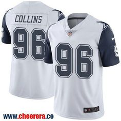 49158d2bee Men s Dallas Cowboys  96 Maliek Collins White 2016 Color Rush Stitched NFL  Nike Limited Jersey